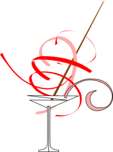 Red Martini Glass Clip Art At Clker Com Vector Clip Art Online