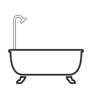 tub clipart black and white. shower clip art at clker.com - vector online, royalty free \u0026 public domain tub clipart black and white