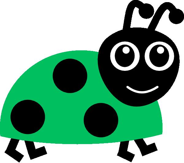 green ladybug clipart - photo #4
