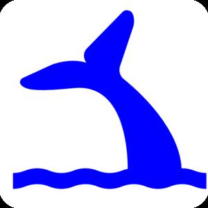 Blue Whale Tail Clip Art at Clker.com - vector clip art online ...