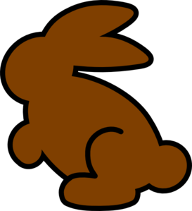 Dark Orange Bunny Clip Art