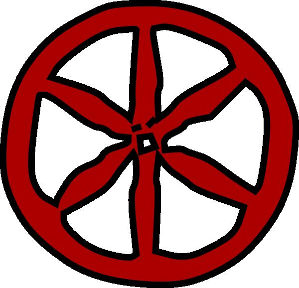 Antique Wood Wheel Clip Art at Clker.com - vector clip art online ...