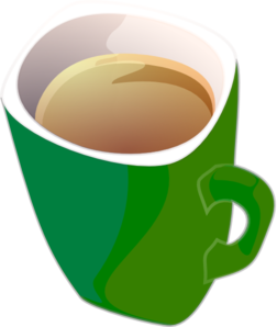 Purple-green Coffee Tea Mug Clip Art