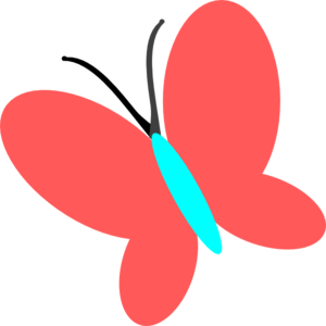 Red Blue Butterfly Clip Art