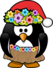 Christmas In July Penguin Clip Art