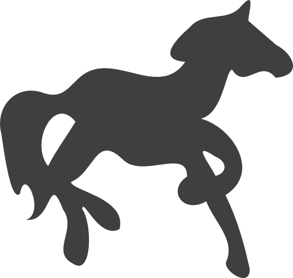 Carousel horse silhouette clip art - photo#11