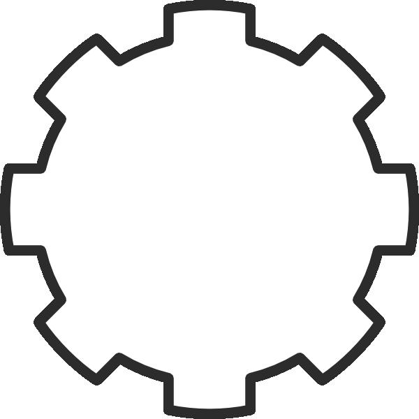 White Gear Clip Art at Clker.com - vector clip art online ...
