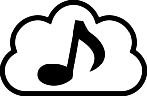 Music Cloud Clip Art