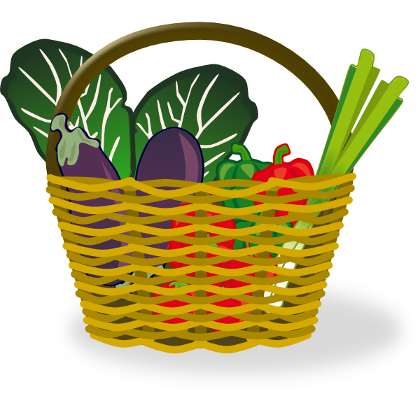 Vector Clipart Shopping Basket : Basket of vegetables clip art at clker vector