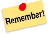 Remember Sticky Note Clip Art