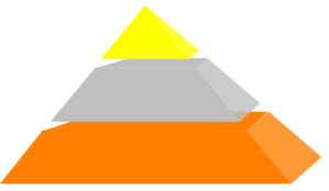 Pyramid 3 Blocks Gsb Clip Art