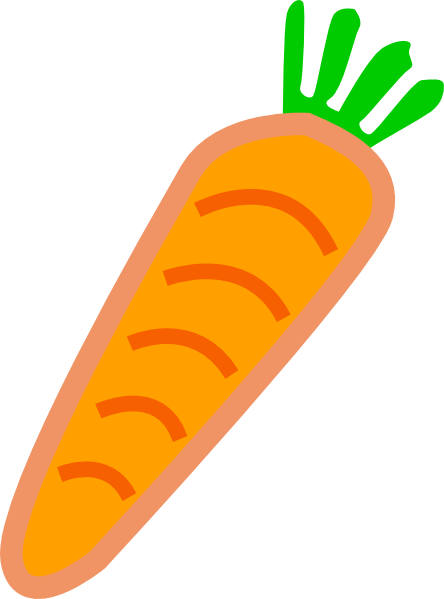 orange carrot with green leaves clip art at clker com vector clip rh clker com