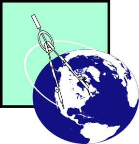 Compass With Earth2 Clip Art