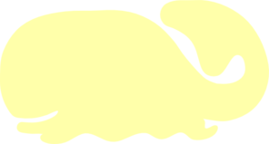Yellow Whale Clip Art