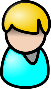 Man With Teal Shirt Clip Art
