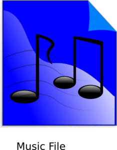 Musical Notes Colored Clip Art