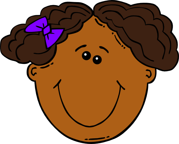 Cartoon Girl Face Clip Art at Clker.com - vector clip art ...