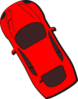 Red Car - Top View - 120 Clip Art