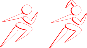Boy And Girl Running Clip Art