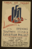 Federal Art Project, Works Progress Administration, Announces The Opening Of The Southern Illinois Exhibition Project ... Clip Art