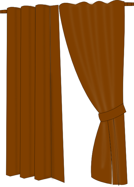 Brown Curtains Clip Art at Clker.com - vector clip art online, royalty ...