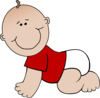 Baby Bay Boy With Red Shirt 2 Clip Art