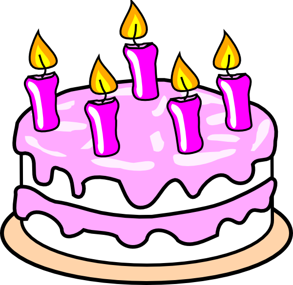 Birthday Clip Art And Free Birthday Graphics: Girl S Birthday Cake Clip Art At Clker.com