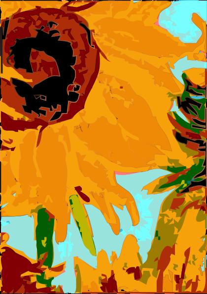 van gogh sun flower clip art at clker com