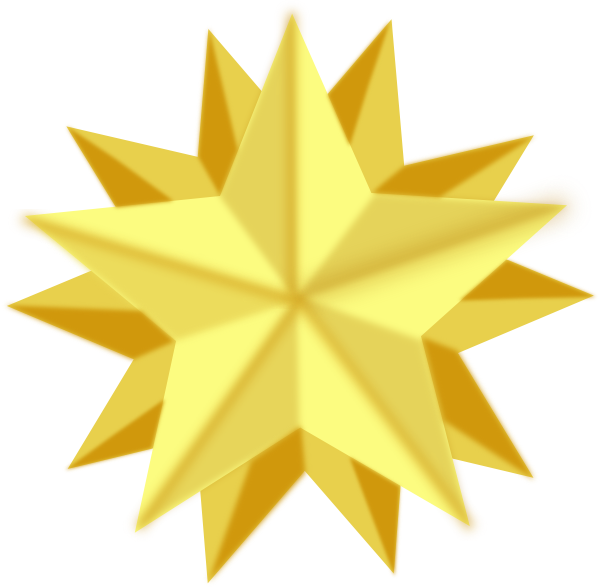 Golden Star Clip Art at Clker.com - vector clip art online, royalty ...