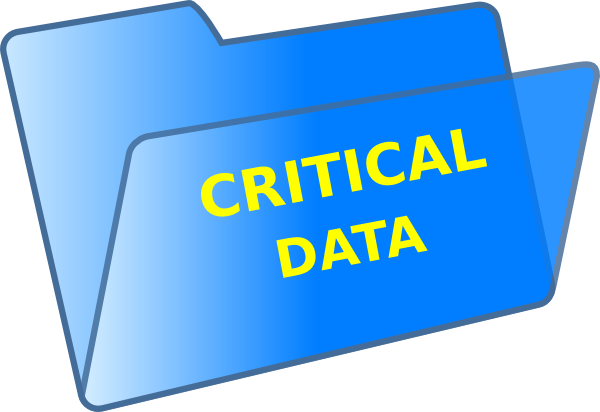 Record Data Clipart Critical Data Clipart