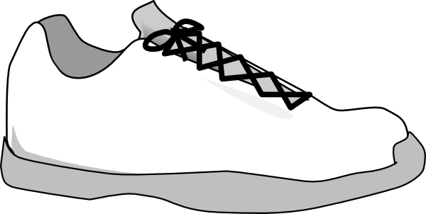 Outline of a Running Shoe http://www.clker.com/clipart-gray-shoe.html