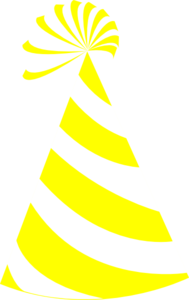 Yellow And White Hat Clip Art