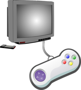 Play Videogames Clip Art