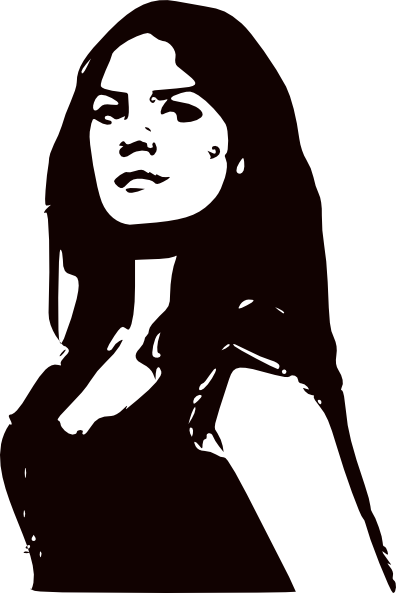 Woman Face Clipart Black And White Women Black And White ...