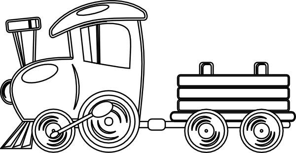 Train Outline Clip Art At Clker Com Vector Clip Art