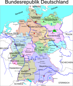 Political Map Of Germany Clip Art