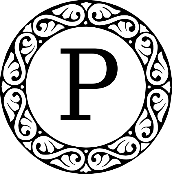 monogram letter p clip art at clker com vector clip art online
