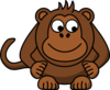 Monkey Looking Right-down Clip Art