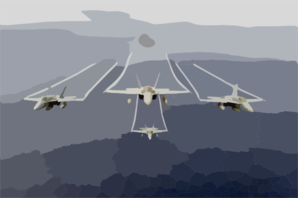 F/a-18 Hornets Assigned To The Mighty Shrikes Of Strike Fighter Squadron Ninety Four (vfa-94) Clip Art