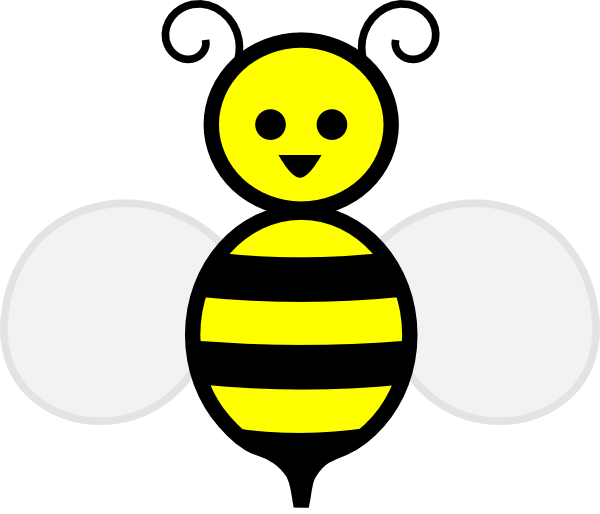 happy bumble bee clip art at clker com vector clip art online