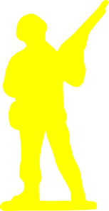 Yellow Soldier Clip Art