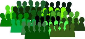 Very Green Crowd Clip Art