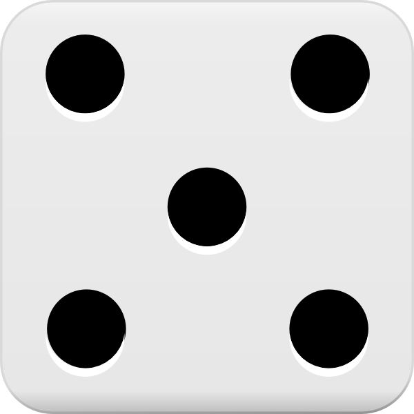 1 6 dice clipart 5 point