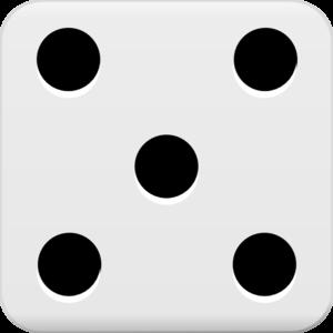 5 on a dice