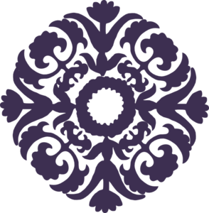 Dark Purple Paisley Flower Clip Art