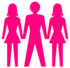 Man And Two Woman (trio) Icon Clip Art