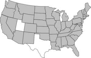 Shaded Us Map Clip Art