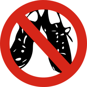 image regarding No Shoes Sign Printable called No Sneakers Permitted Clip Artwork at - vector clip artwork