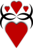 Black Red Hearts Clip Art