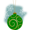 Green Decorative Ornament Clip Art